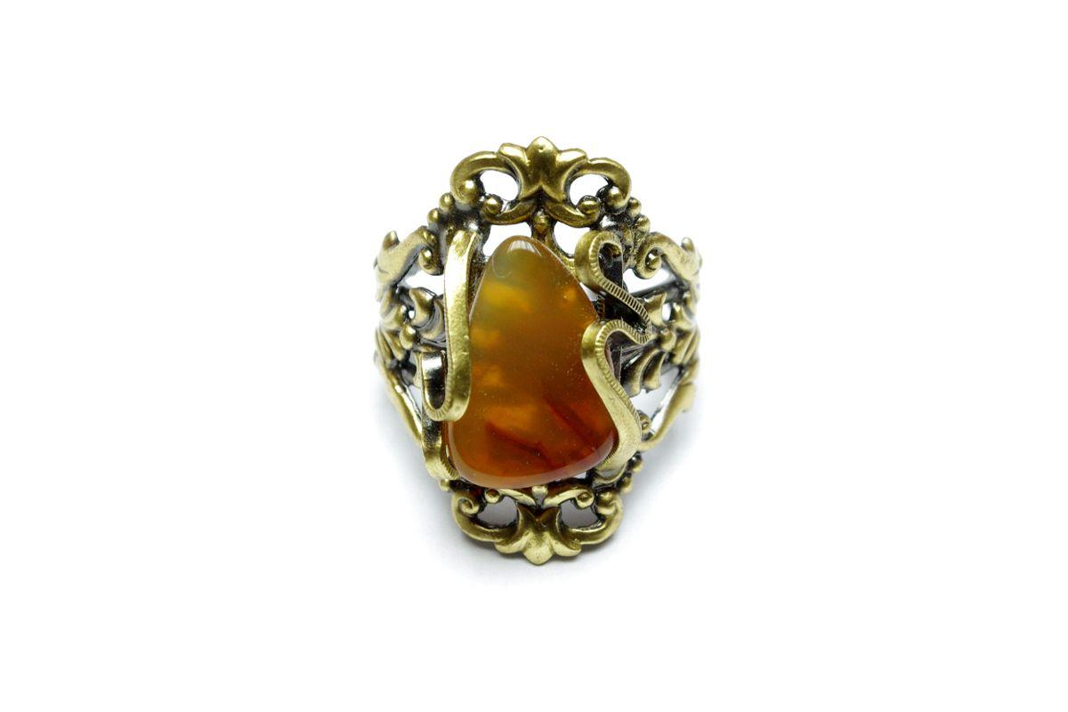 prsten s polodrahokamem - pánská velikost