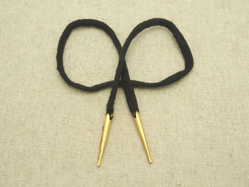 dubletová tkanice, lucetková tkanice - barva černá
