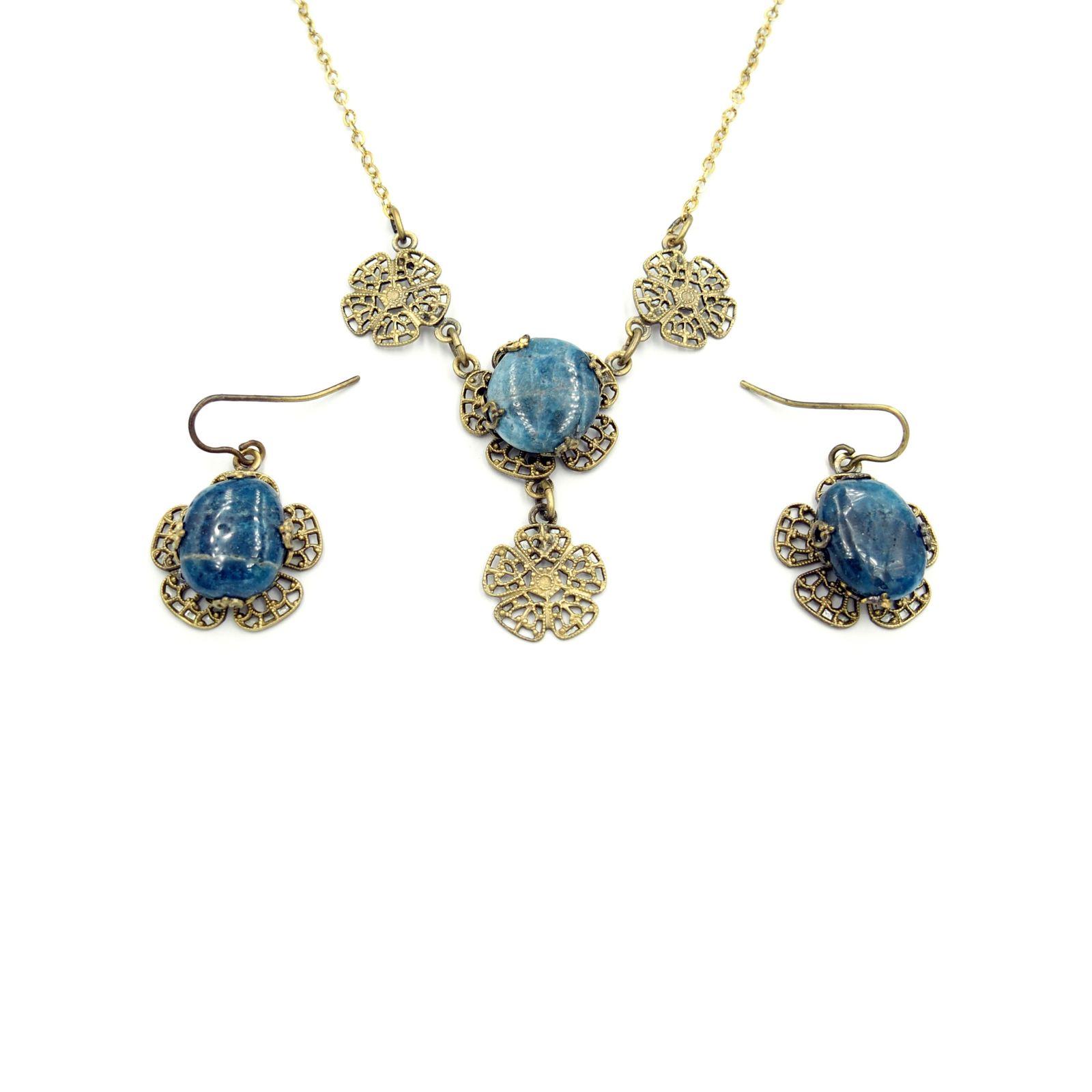 náhrdelník s přívěskem a naušnicemi (ch)