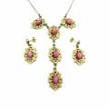 náhrdelník s přívěskem a naušnicemi (g)