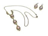 náhrdelník s přívěskem a naušnicemi (h)