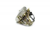 prsten s polodrahokamem - dámská velikost