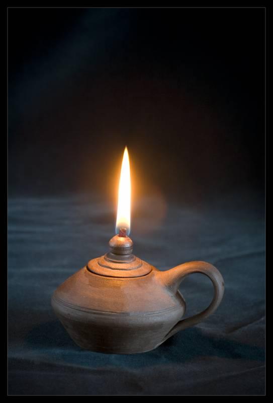 keramická lampa olejová, keramický kahan, lampička
